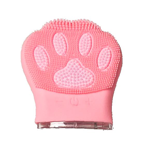 cepillo facial pata gato coral