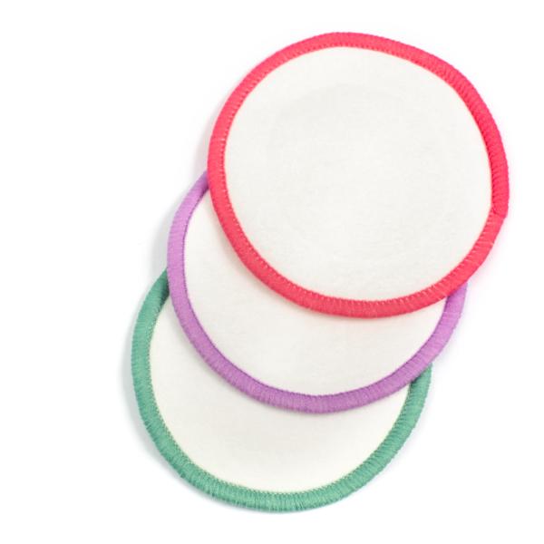 discos desmaquillantes reutilizables - colores