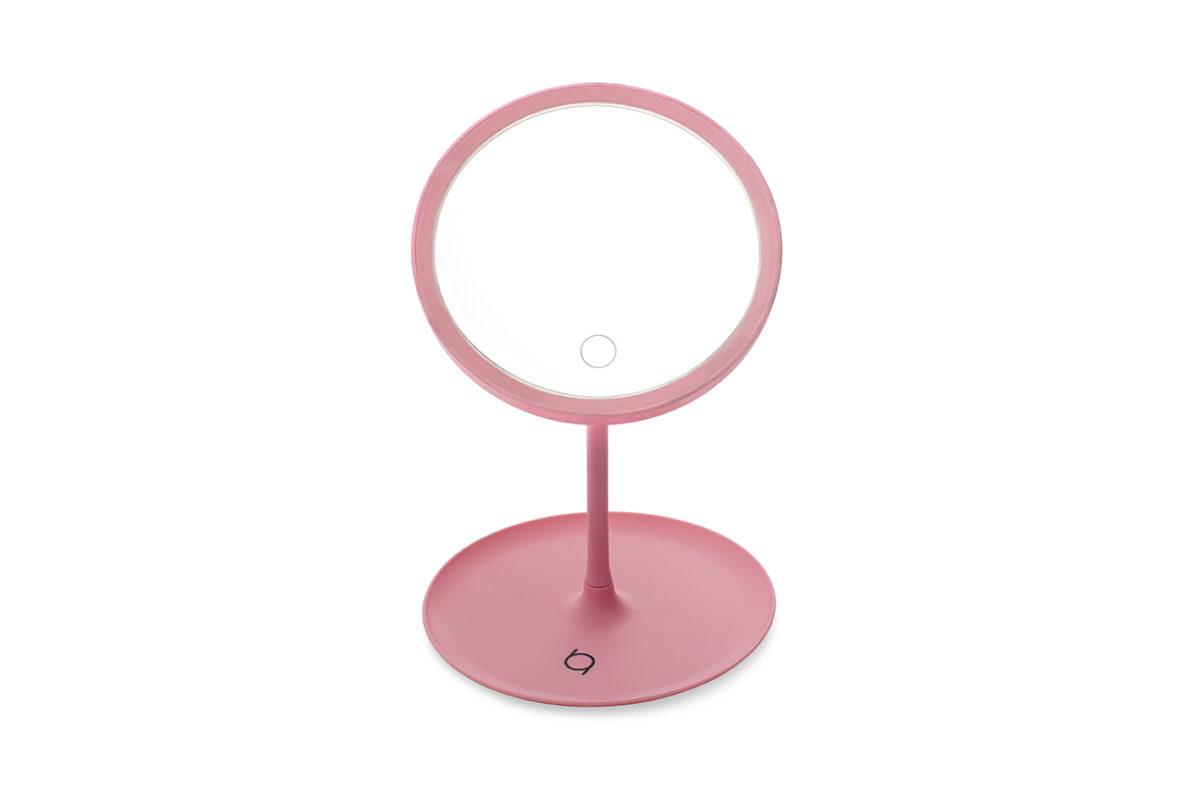 Espejo de mesa rosa