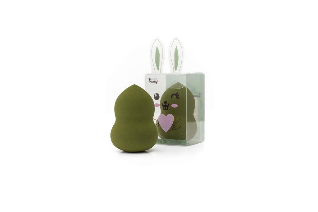 esponja 3D maquillaje blending verde